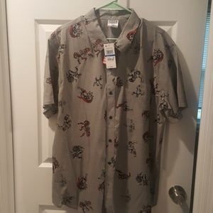 NWT marvel avengers button down